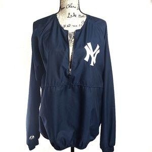 Yankees Pullover 100% Polyester  1/2 zip up jacket